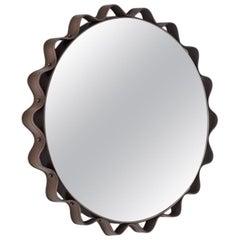 Modern Italian Made Leather Mirror