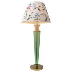 Modern Italian Murano Brass and Blown Glass Table Lamp, 1980s