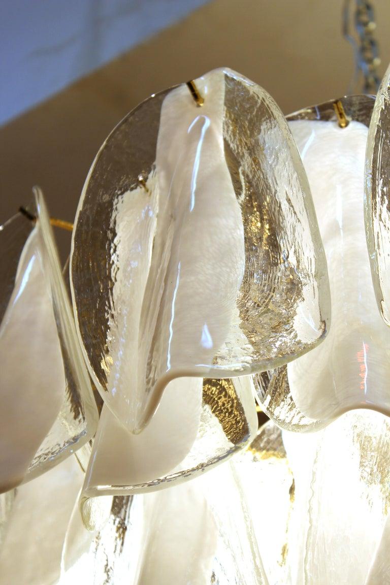 Modern Italian Murano Glass Chandelier For Sale 3