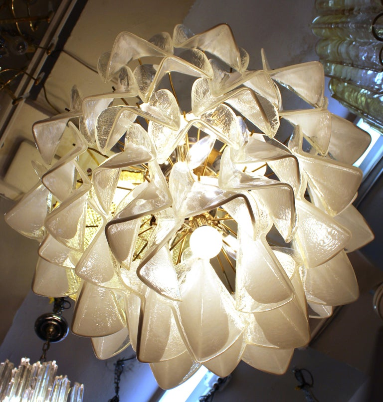 Modern Italian Murano Glass Chandelier For Sale 4