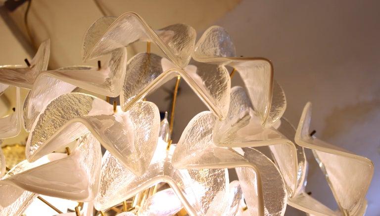 Modern Italian Murano Glass Chandelier For Sale 5