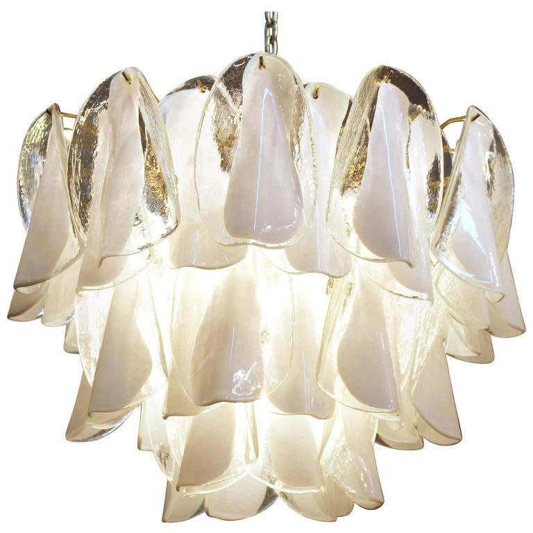 Modern Italian Murano Glass Chandelier For Sale