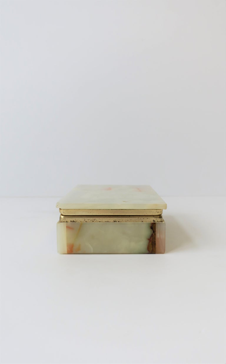 Modern Italian Onyx Marble Jewelry Box For Sale 6