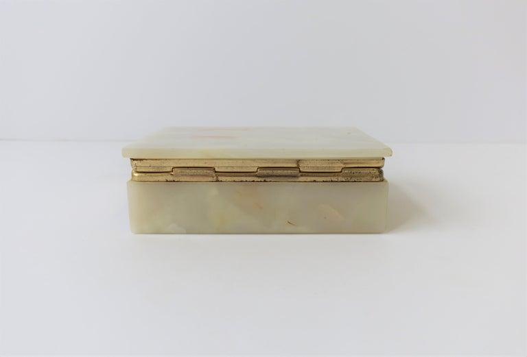 Modern Italian Onyx Marble Jewelry Box For Sale 12