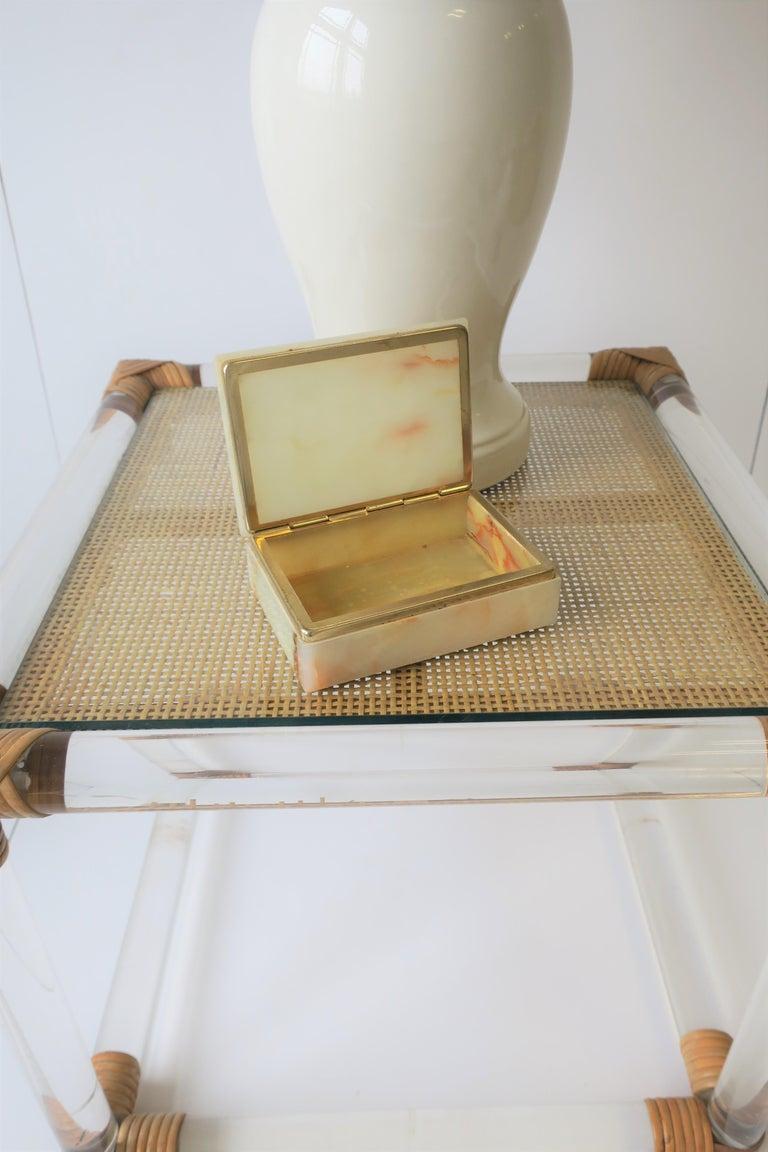 Modern Italian Onyx Marble Jewelry Box For Sale 14