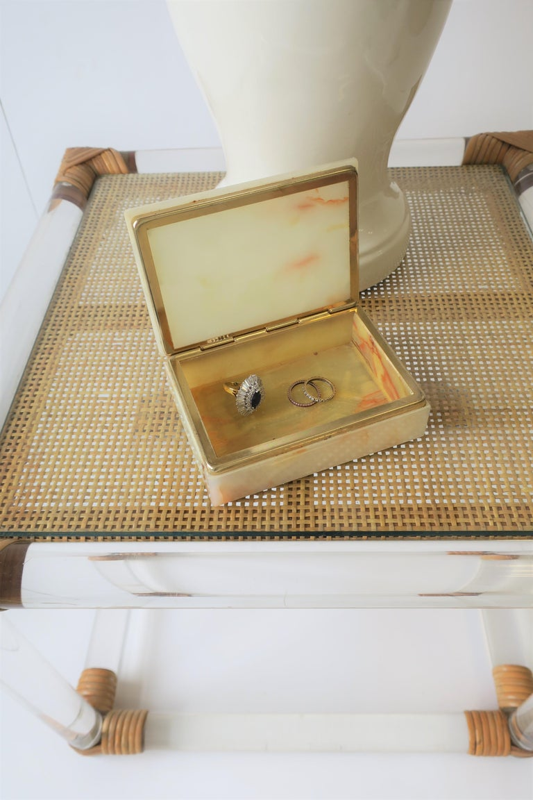 Modern Italian Onyx Marble Jewelry Box For Sale 15