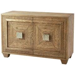 Modern Italian Rustic Oak Cabinet