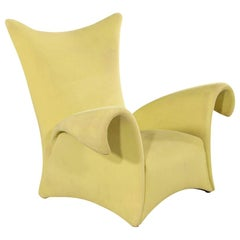 Modern Italian Sculptural Lounge Arm Chair