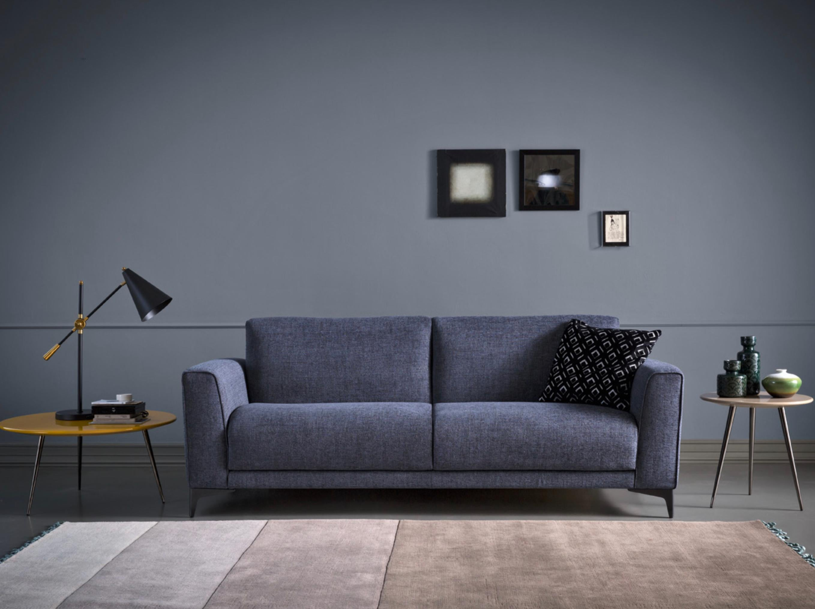 Modern Italian Sofa Bed, Fabric, Contemporary Design Made in Italy