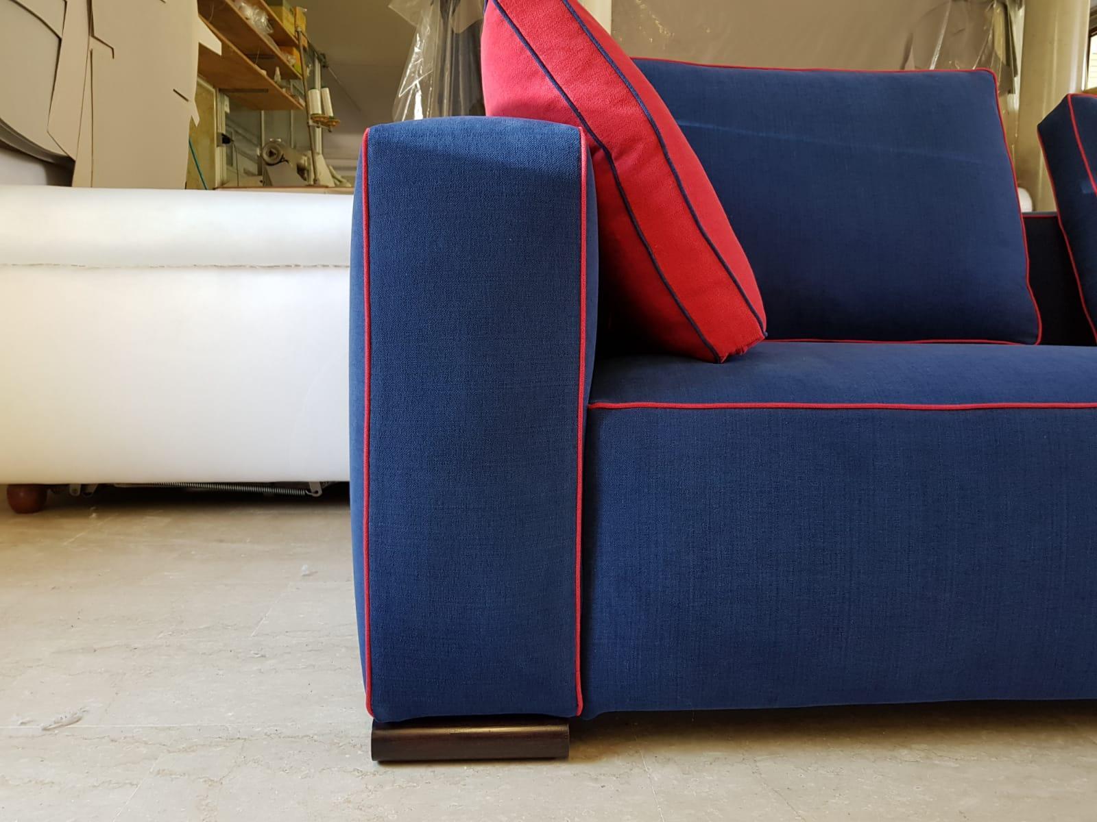 Modern Italian Tailor Made Sofa, Handmade in Italy