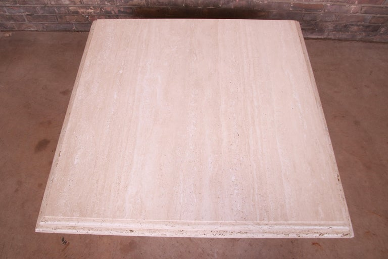 Modern Italian Travertine Marble Cocktail Table, Circa 1970s For Sale 4