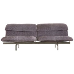 "Modern Italian Two-Seat Sofa ""Wave"" by Giovanni Offredi for Saporiti circa 1970s"