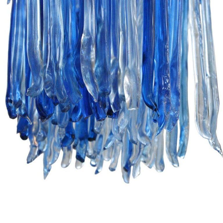 Hand-Crafted Modern Jacopo Foggini Chandelier Sculpture Blue Resin Handmade For Sale