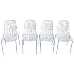 Modern Janus and Co 'The Forest Collection' Stackable Side Chairs, Set of 4