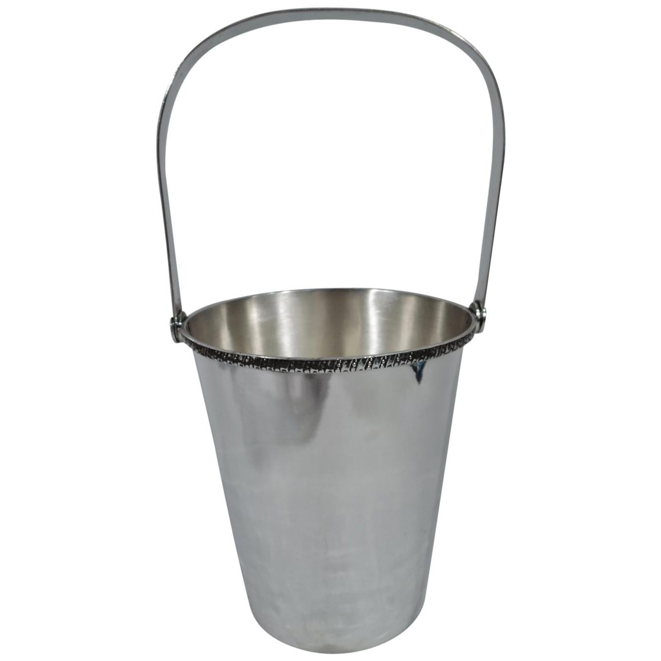Modern Japanese Silver Ice Bucket