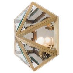 Modern Jugendstil Josef Hoffmann Hand Cut Glass Wall or Ceiling Lamp, Re Edition