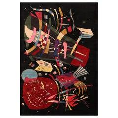 Modern Kandinsky Inspired Art Rug. Size: 6 ft 9 in x 9 ft 9 in
