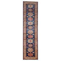 Modern Kazak Runner Rugs, Handmade Stair Carpet Rug