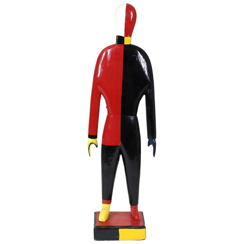 Modern Kazimir Malevitch Sportsmen Painted Figure