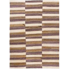 Modern Kilim Striped Rug