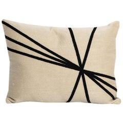 Modern Kilombo Home Embroidery Pillow Archi Beige & Black