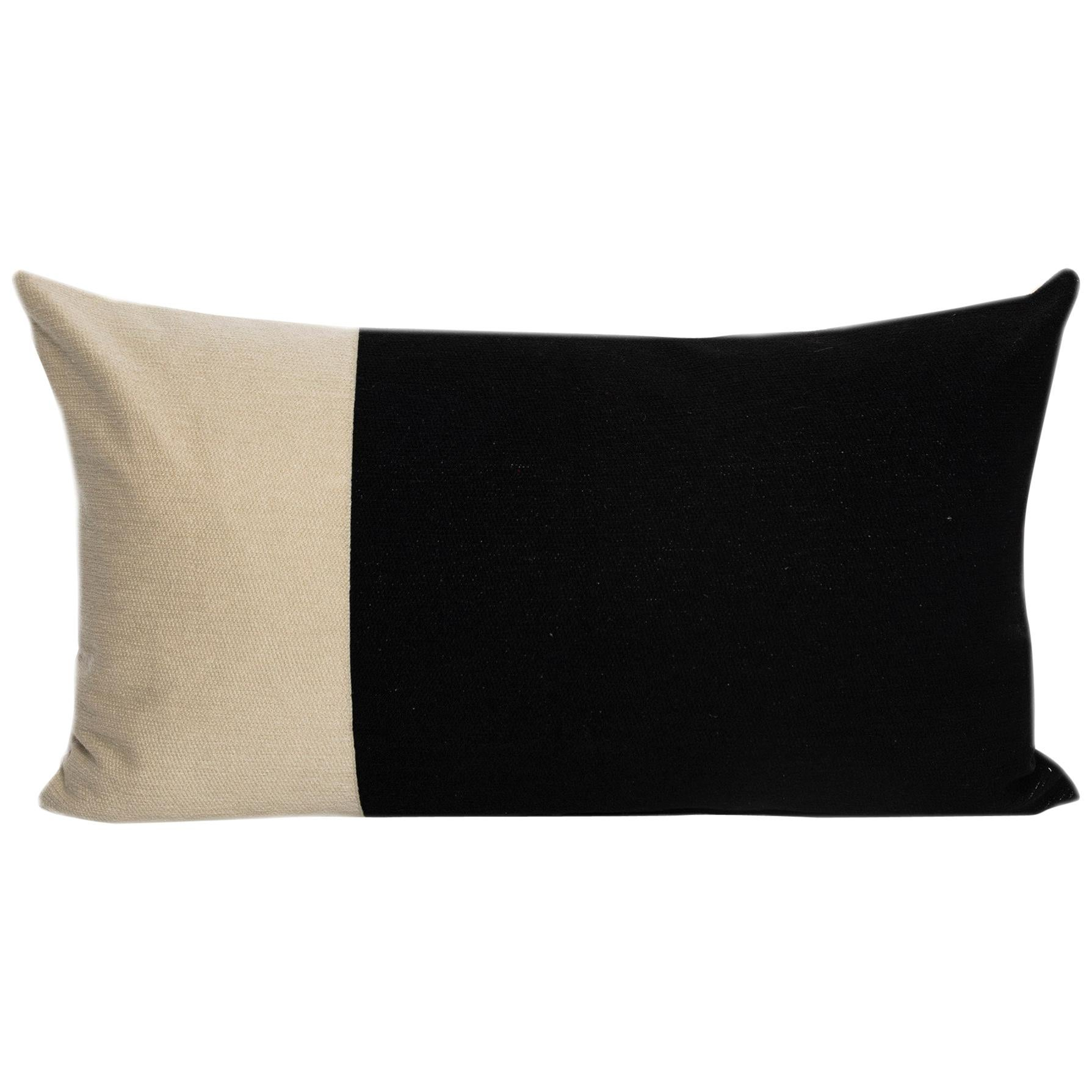 Modern Kilombo Home Embroidery Pillow Cotton Bee Black&Beige