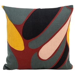 Modern Kilombo Home Embroidery Pillow Cotton Grey Black Red Wine Mustard