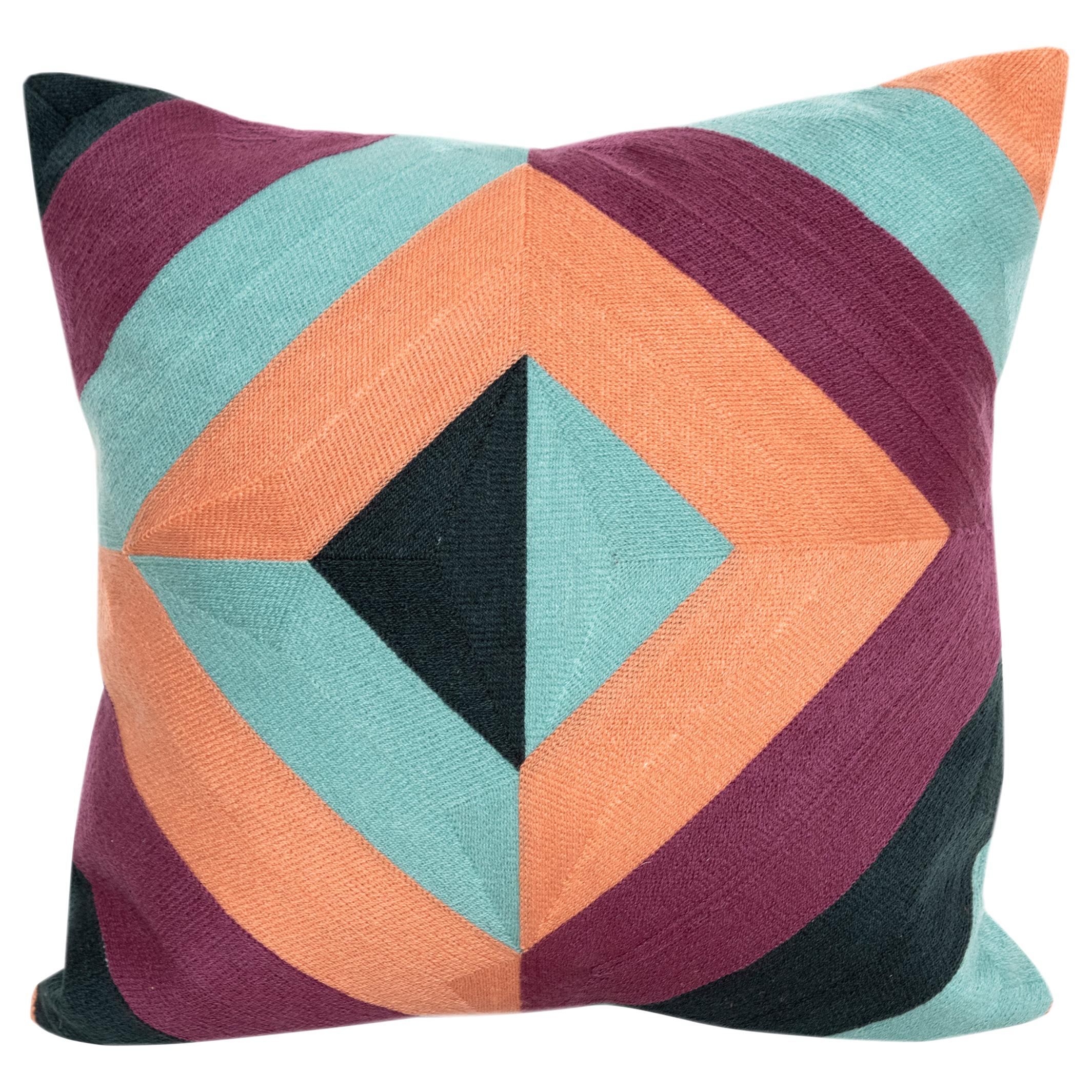 Modern Kilombo Home Embroidery Pillow Cotton Multiple Colors
