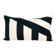 Modern Kilombo Home Embroidery Pillow Cotton Navy Blue and white