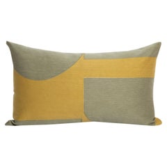 Modern Kilombo Home Embroidery Pillow Cotton Pac-Man Mustard&Green