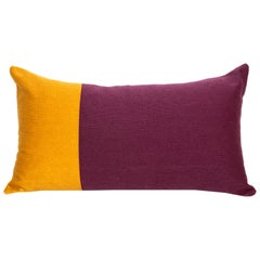 Modern Kilombo Home Embroidery Pillow Cotton Purple and Mustard
