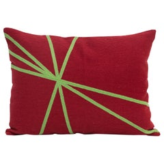 Modern Kilombo Home Embroidery Pillow Cotton Red and Green