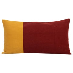 Modern Kilombo Home Embroidery Pillow Cotton Red wine and Mustard