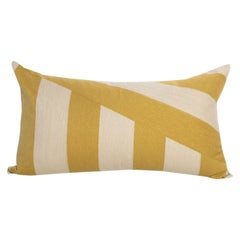 Modern Kilombo Home Embroidery Pillow Cotton Stripes Mustard&Beige
