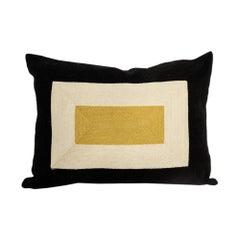 Modern Kilombo Home Embroidery Pillow Smart Black&Mustard