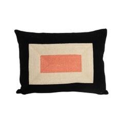 Modern Kilombo Home Embroidery Pillow Smart Black&Salmon