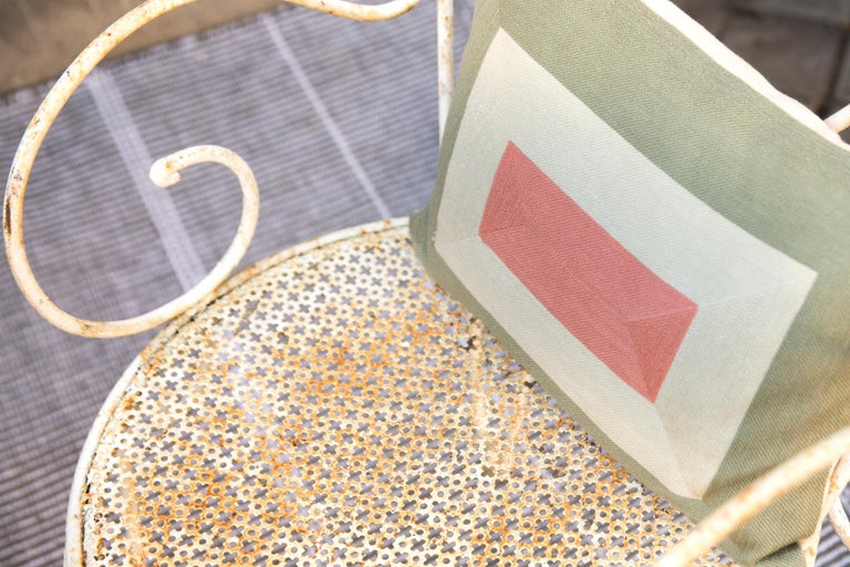 Modern Kilombo Home Embroidery Pillow Smart Green&Salmon For Sale 10
