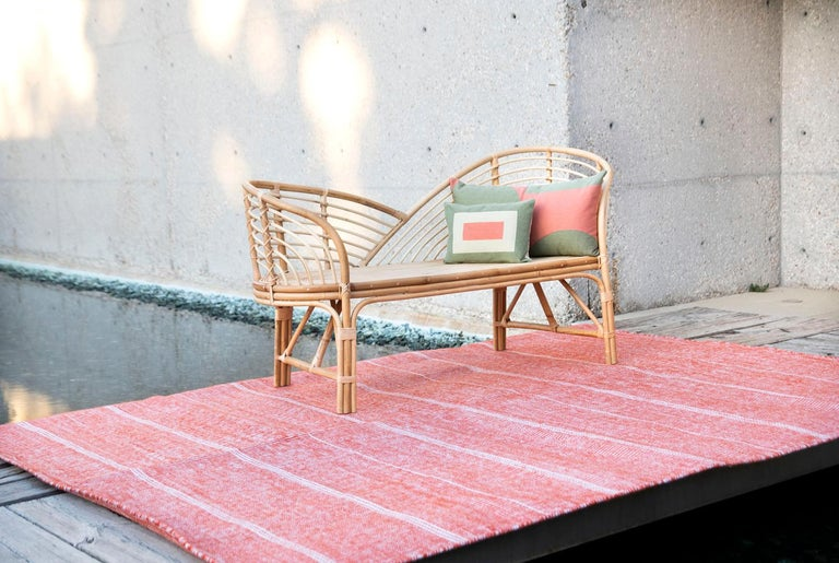 Modern Kilombo Home Embroidery Pillow Smart Green&Salmon For Sale 3