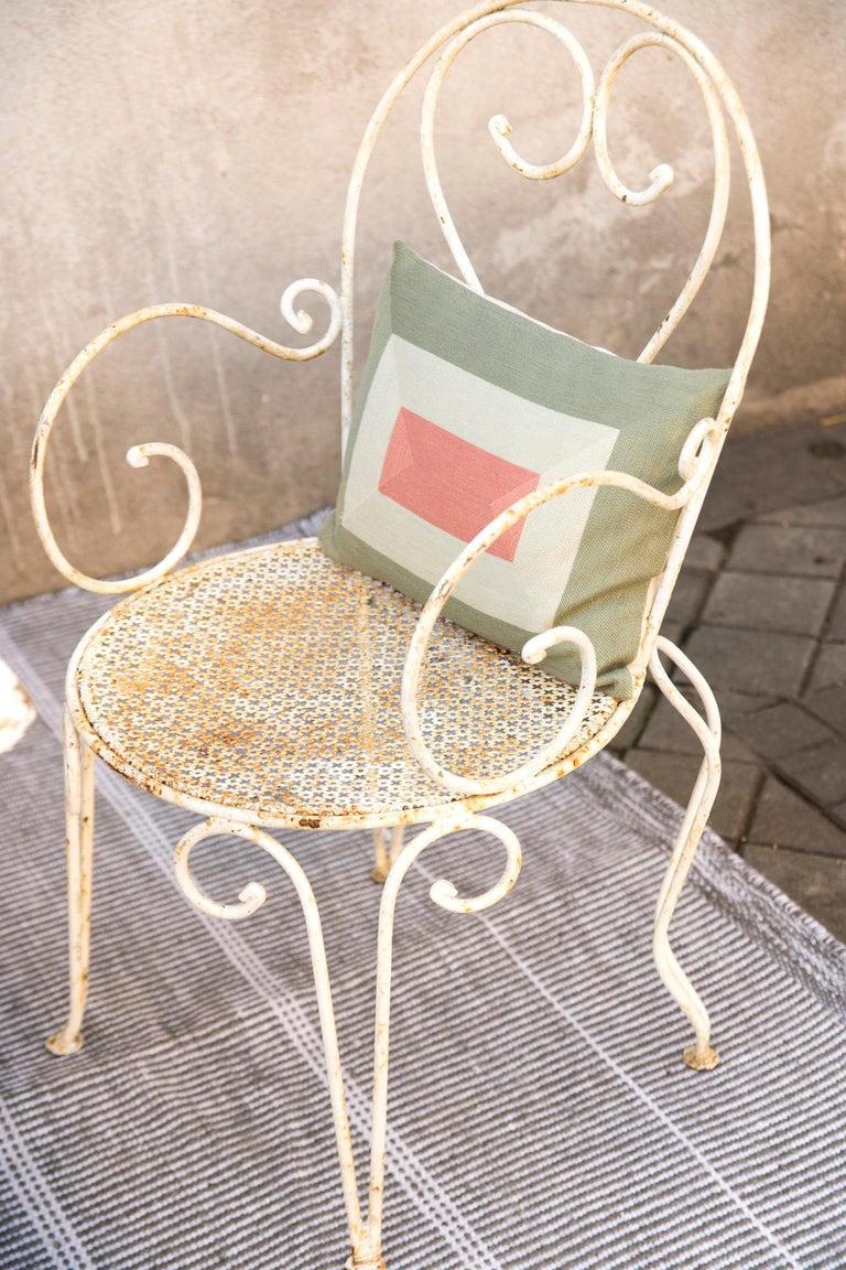 Modern Kilombo Home Embroidery Pillow Smart Green&Salmon For Sale 8