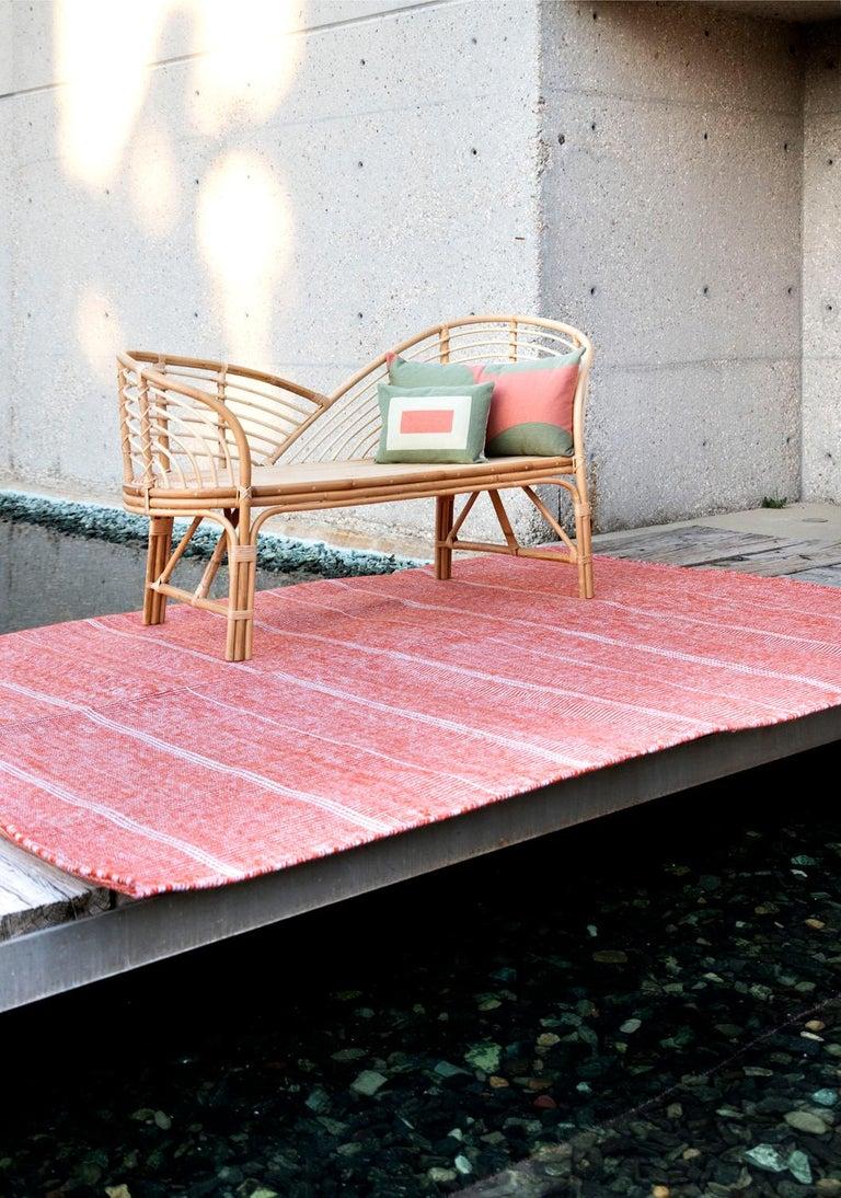 Modern Kilombo Home Embroidery Pillow Smart Green&Salmon For Sale 4