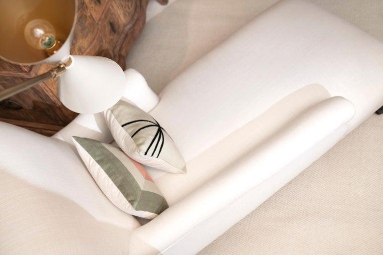 Modern Kilombo Home Embroidery Pillow Smart Green&Salmon For Sale 9