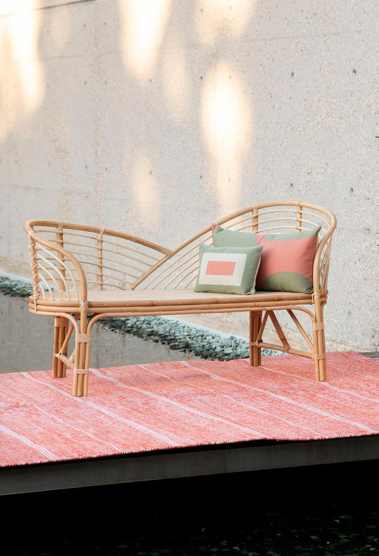 Modern Kilombo Home Embroidery Pillow Smart Green&Salmon For Sale 2
