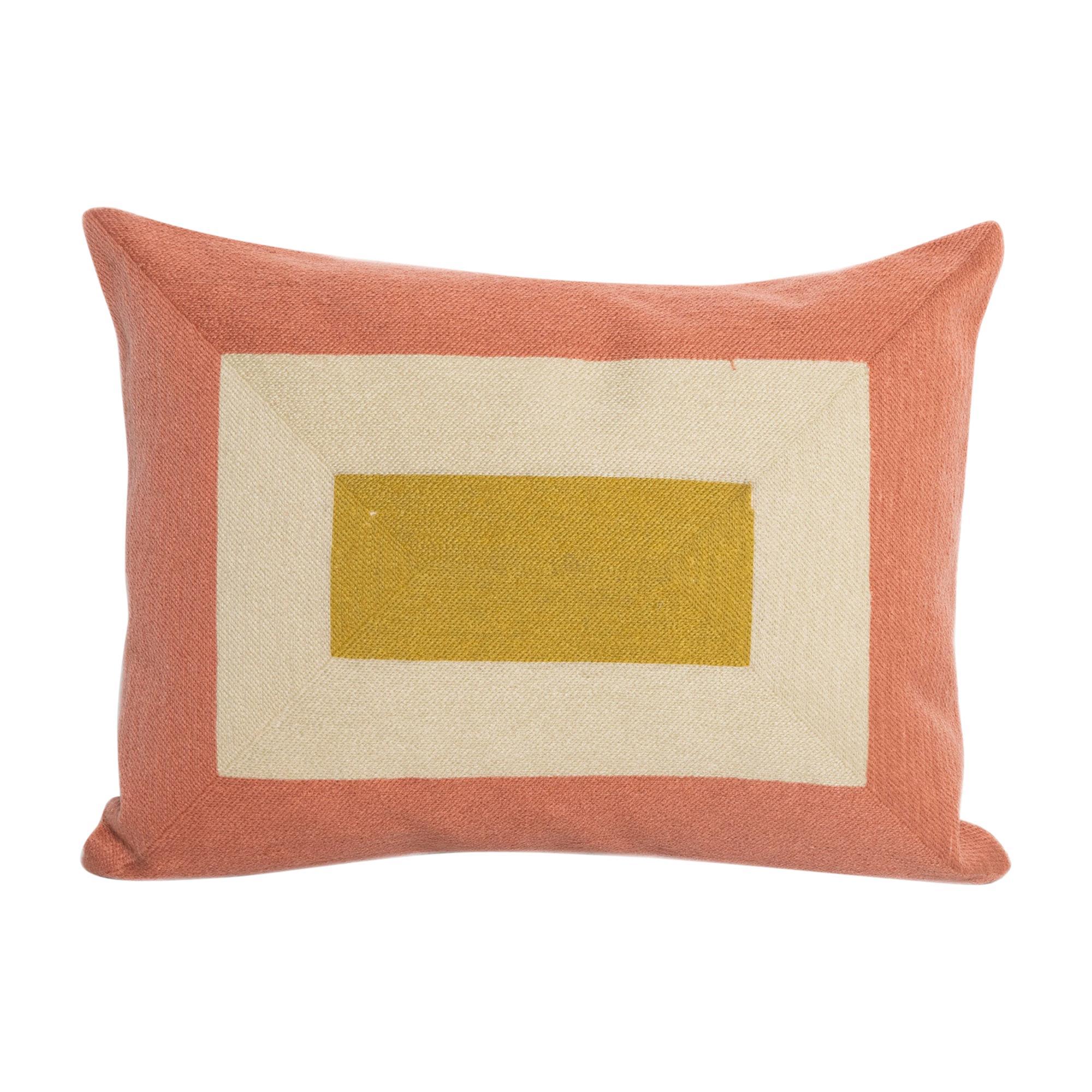 Modern Kilombo Home Embroidery Pillow Smart Salmon&Mustard