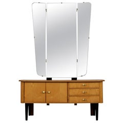 Modern Lacquered Finish Dressing Table, circa 1960s
