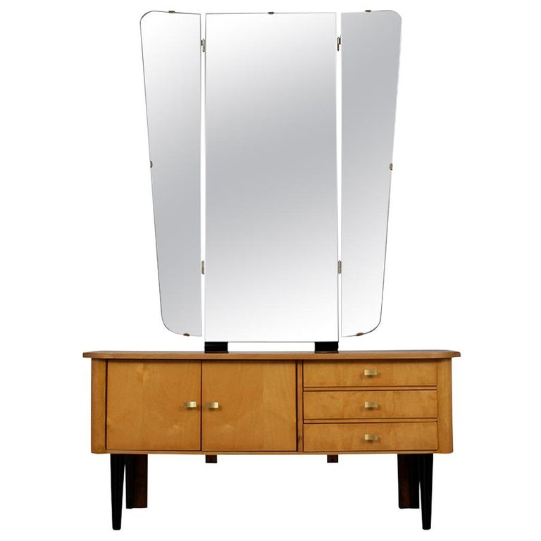 Modern Lacquered Finish Dressing Table, circa 1960s For Sale