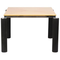 Modern Lacquered Game Table with Offset Legs Style of Giorgio Saporiti