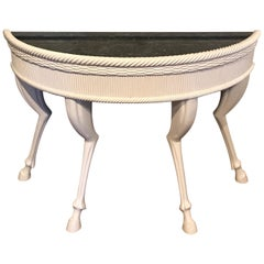 Modern Lacquered Hoof Foot Console, in the Manner of John Dickinson