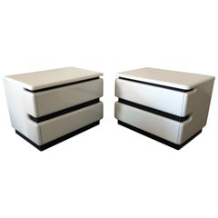 Modern Lacquered Rougier Nightstands