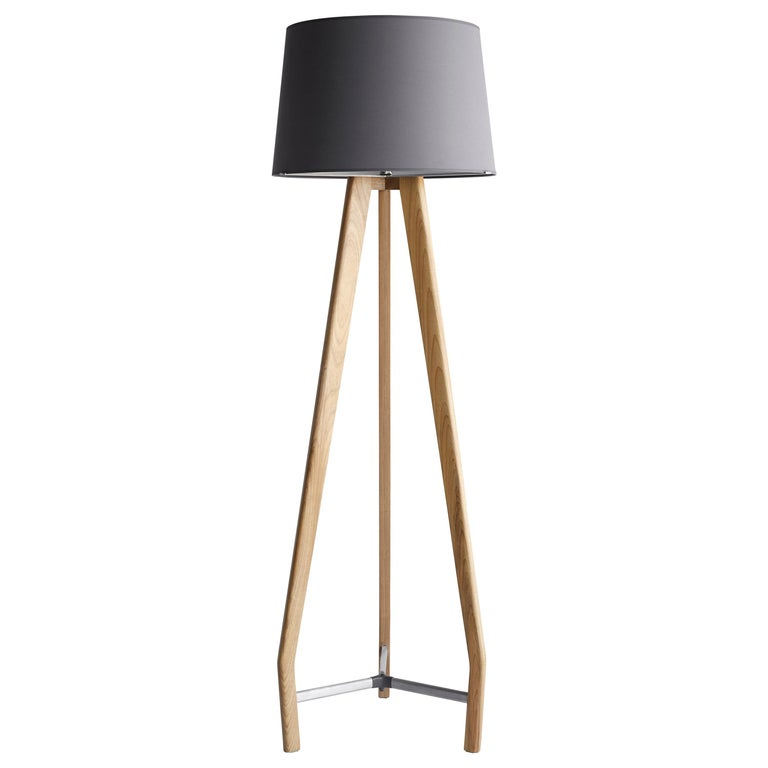 Modern Lamp in solid wood and Metal For Sale