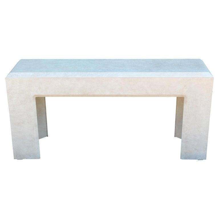 Moderne Lane Furniture Strukturierte Minimalistische Weisse Konsole